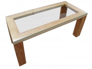 die schreiner christoph siegel design tisch mit glasplatte esche massiv ge lt. Black Bedroom Furniture Sets. Home Design Ideas